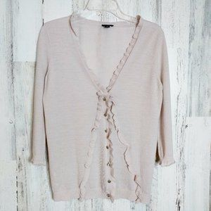 Merino Wool Cardigan Sweater Lightweight Small